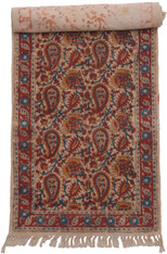 "Hand Block Printed Natural Dyed Cotton Rug  B India  (23"" x 72"")"