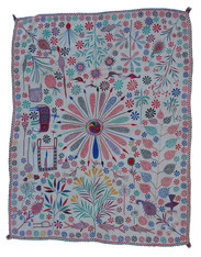 "West Bengal Vintage Kantha Quilt India (48""x 62"")"