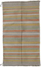"Handwoven and Natural Dyed Camel Hair and Sheep Wool  Rug India 4 (36"" x 60"")"