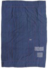 """Indigo Vat Dyed Kantha Quilt Blanket Vintage Sari 4 (53"""" x 78"""")"""