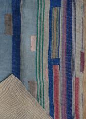 "Kantha Quilt Blanket Vintage Sari India (54"" x 70"")"