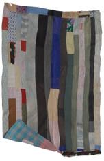 "Kantha Quilt Blanket Vintage Sari India 8 (54"" x 79"")"