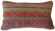 "Handwoven Natural Dyed Traditional Woolen Pillow Peru 11.5"" x  20"""