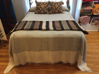 "Handwoven Cotton Lightweight Coverlet Bed Spread India (117"" x 104"")"