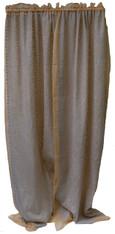 """Cutwork Sheer Wheat Curtains India ( 43"""" x92"""")"""