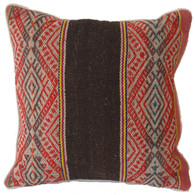 "Handwoven Traditional Wool Pillow Peru (16.5"" x16.5"")"