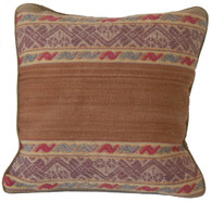 "Handwoven Traditional Woolen Natural  Dyed Pillow Peru (13"" x 13"")"