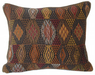 "Handwoven Traditional Maya Brocade Pillow Guatemala (14""x17"")"