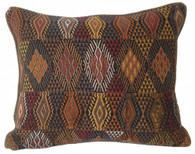 "Handwoven Traditional Maya Brocade Pillow Guatemala (14""x17"")"