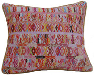 "Handwoven Traditional Maya Brocade Pillow Guatemala (11""x13"")"