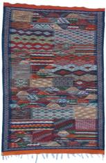 """Handwoven Wool Flat Weave Rug Morocco (46"""" x 66"""")"""