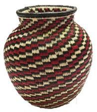 "Handmade Natural Fiber Wounaan Basket Panama  (4""x4"")"
