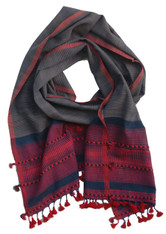"Handwoven Cotton Scarf India (16"" x 76"")"