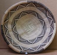 "Hand Woven Natural Fiber Basket 14 Zimbabwe (11.25"")"