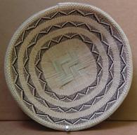 "Hand Woven Natural Fiber Basket 13 Zimbabwe (11.75"")"