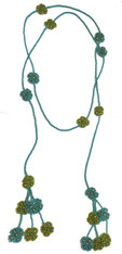 Handmade Beaded Long Strand Necklace Guatemala