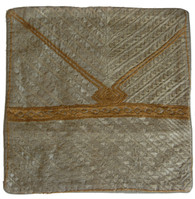 """Embroidered Silk on Cotton Pillow Cover India (15"""" x 15"""")"""
