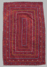 "Hand Embroidered Saami Quilt Pakistan (60"" x 76"")"