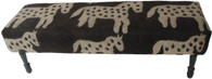 """Handmade Wool Felt Pony Design Bench  Afghanistan (20""""W x 59""""L)"""