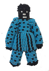 "Handmade Beaded Doll South Sudan (7"" x 4"")"