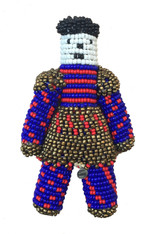 "Handmade Beaded Doll 2 South Sudan (7"" x 4"")"