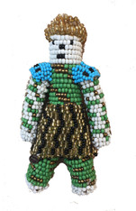 "Handmade Beaded Doll 5 South Sudan (7"" x 4"")"