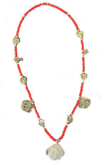 "Handmade Charm and Bead Necklace Guatemala 13"" drop"