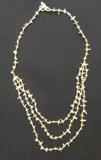 "Handmade Bead and Shell Necklace Guatemala (10"" drop)"