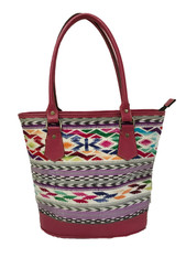 """Handmade Leather and Handwoven Shoulder Bag Purse (12"""" x 11"""")"""