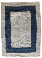 "Handmade Organic Cotton Tie Dye Baby Quilt Blue (32"" x 44"")"