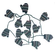 """Handknit Wool Mitten Garland Nepal (89""""long)"""