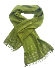 "Handwoven Wool Tie Dyed Scarf India (21"" x 74"")"