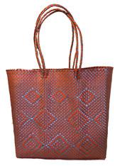 """Handmade Woven Plastic Shoulder Satchel (13"""" x 23"""")"""