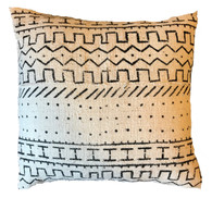 "Handwoven and Dyed Mud Cloth Pillow Mali (17"" x 17"")"