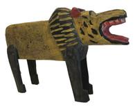 "Handmade Wooden Lion Folk Art Guatemala ( 9"" x 12"")"