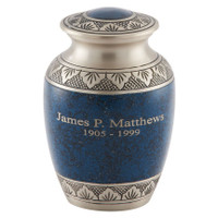 Athens Pewter Blue (Medium) - Item is shown with Engraving (sold separately.)
