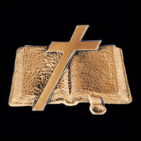 Cross & Open Bible - Apply this emblem to any urn