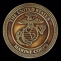 Marine Corps Emblem - Apply this emblem to any urn