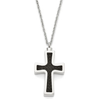 Pendant Cross - Carbon Fiber