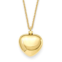 Large Heart Gold Vermeil .813""