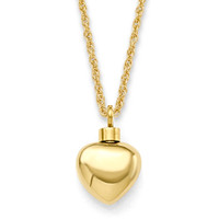 Small Heart Gold Vermeil ½""