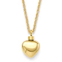 """Small Heart Gold Vermeil ½"""""""