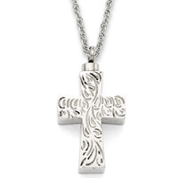 Etched Cross  1.125""