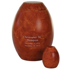 Madrid Keepsake - Shown with optional engraving and optional large urn