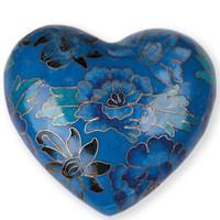 Blue Sapphire Cloisonne Heart
