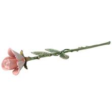 Pink Keepsake Rose Urn.  The center rose petal holds the cremated remains.