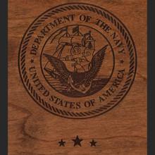 Navy Wood Engraving