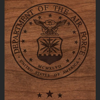 Air Force Wood Engraving