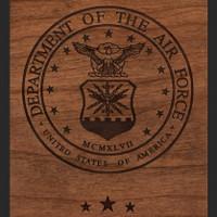 Air Force Wood Engraving