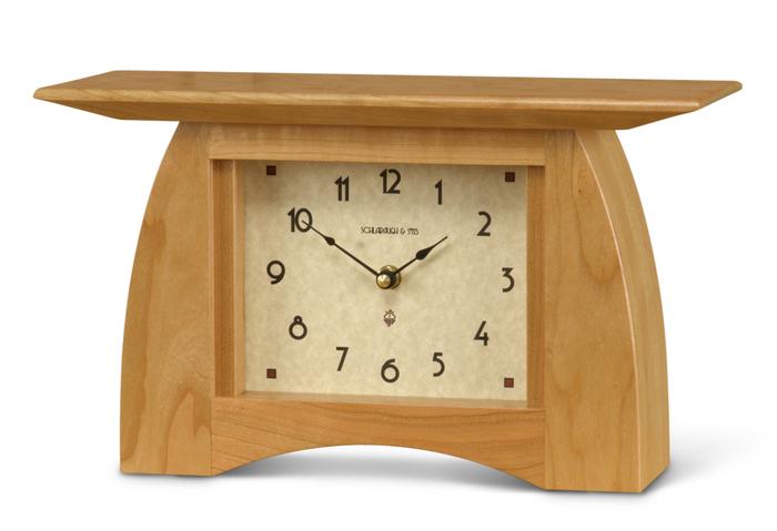 Arts and Crafts Mantel Clock - ArtsAndCraftsTile.com